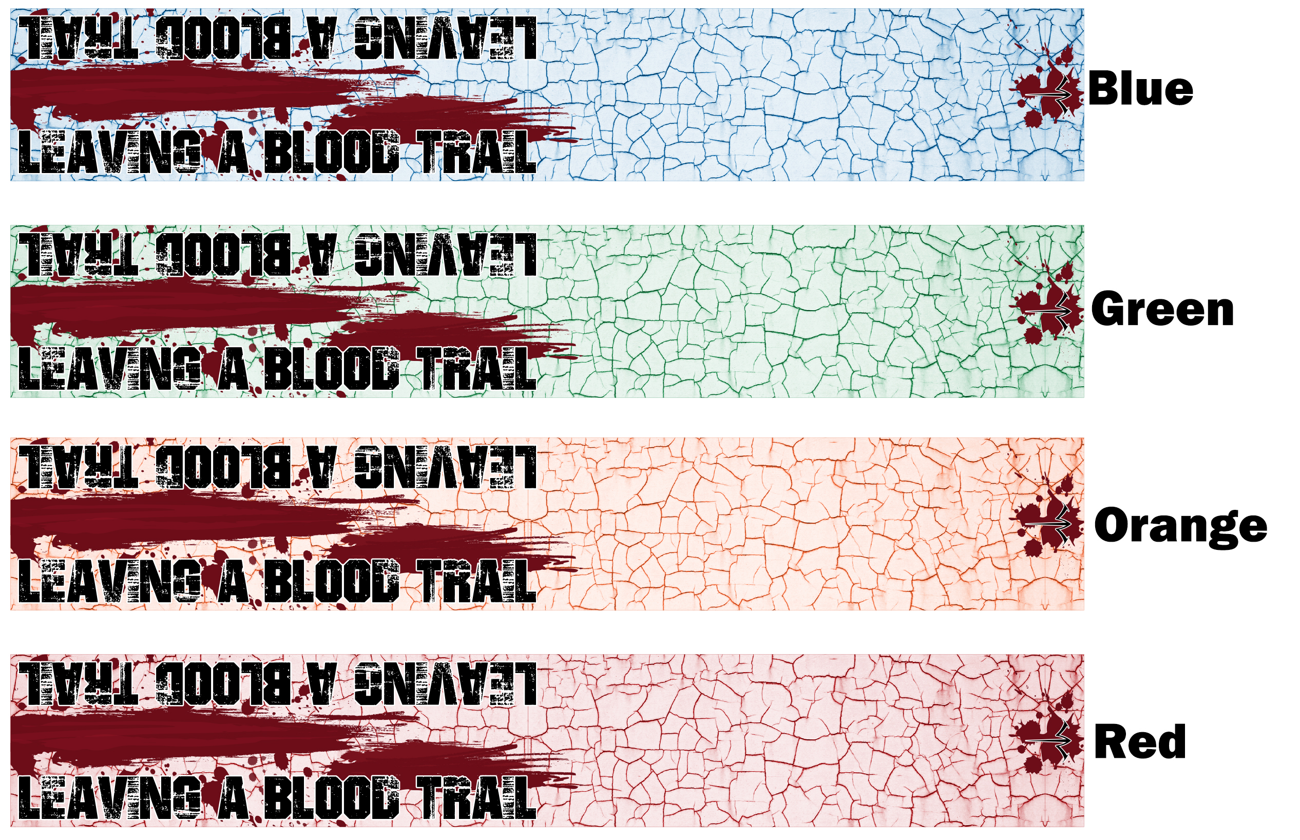 White Water Archery Blood Trail /& Skull 1 Arrow Wraps 15 Pc Choose Length Width