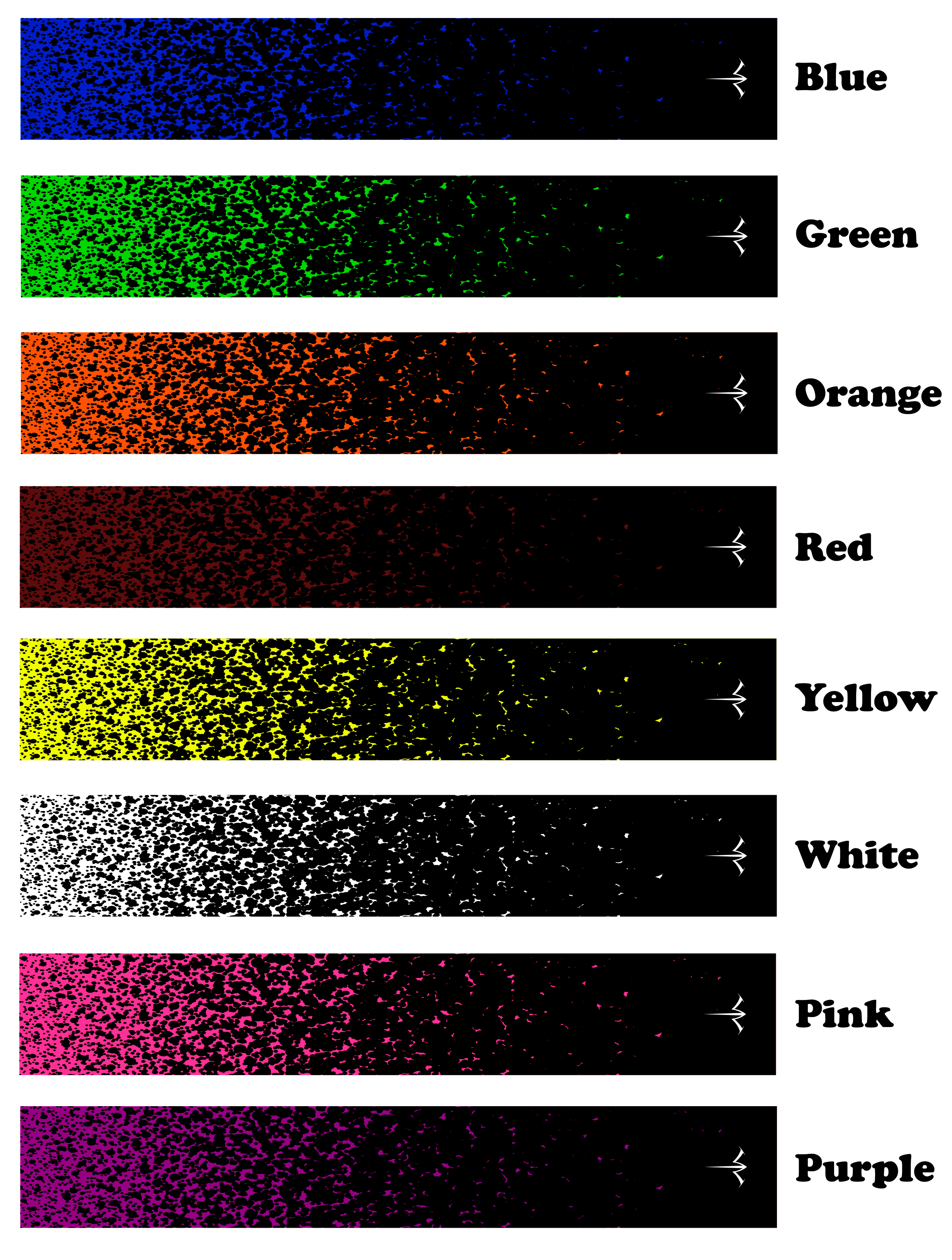 Details about  /White Water Archery Spray Paint Spatter Reflective Arrow Wraps 15 Pc Pack